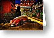 Street Scene Greeting Cards - American Cockroach Greeting Card by Bob Orsillo