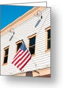 4th July Greeting Cards - American flag Greeting Card by Tom Gowanlock