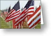 Star-spangled Banner Greeting Cards - American Flags Greeting Card by Peter  McIntosh