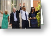 Vice President Joe Biden Greeting Cards - American Four Greeting Card by Diane Zumbach