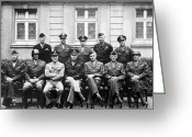 American Generals Greeting Cards - American Generals WWII  Greeting Card by War Is Hell Store