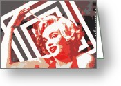 Starlet Greeting Cards - American Icon # 1 Greeting Card by Lisa McKinney