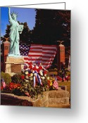 Conservative Greeting Cards - American Iconology Greeting Card by Margaret Harmon