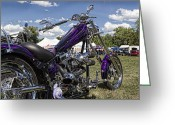 V Twin Greeting Cards - American Ironhorse Greeting Card by Peter Chilelli