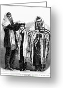 Orthodox Rabbi Greeting Cards - American Judaism, 1877 Greeting Card by Granger