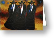 Cowgirl Greeting Cards - American Justice Greeting Card by Lance Headlee