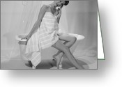 Fashion Model Photography Greeting Cards - American Model Greeting Card by Barry