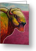 The American Buffalo Painting Greeting Cards - American Monarch Greeting Card by Joe  Triano