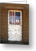 Taos Pueblo Greeting Cards - American Native Finger Prints Greeting Card by Kurt Van Wagner