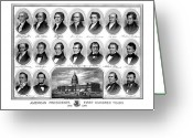 Abraham Lincoln Greeting Cards - American Presidents First Hundred Years Greeting Card by War Is Hell Store