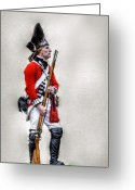 Pitt Greeting Cards - American Revolution British Soldier  Greeting Card by Randy Steele