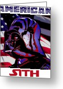 Star Greeting Cards - American Sith Greeting Card by Dale Loos Jr