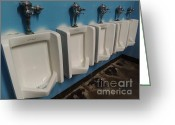 Urinal Greeting Cards - American Standard Greeting Card by John Velasquez