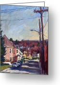 Thor Greeting Cards - American Street in Autumn Greeting Card by Thor Wickstrom