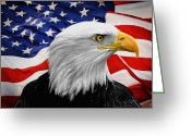 Flag Day Greeting Cards - American Symbols Greeting Card by Dale Jackson