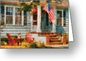 4th Photo Greeting Cards - Americana - America the Beautiful Greeting Card by Mike Savad
