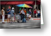 Vendor Greeting Cards - Americana - Mountainside NJ - Buying Ices  Greeting Card by Mike Savad