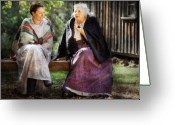 Senior Greeting Cards - Americana - People - Everything was better in the the old country Greeting Card by Mike Savad
