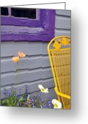 Color Purple Greeting Cards - Americana Greeting Card by Jennifer Crites
