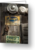 Surge Greeting Cards - Americana Greeting Card by Peter Chilelli