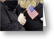 Flag Day Greeting Cards - Americans Celebrate Flag Day Greeting Card by Stocktrek Images