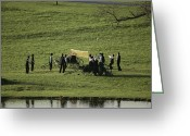 Amish Greeting Cards - Amish Buggies Anchor A Volleyball Net Greeting Card by Ira Block