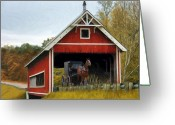 Buggy Greeting Cards - Amish Era Greeting Card by Tom Griffithe