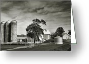 Country Framed Print Greeting Cards - Amish Farmstead II Greeting Card by Steven Ainsworth