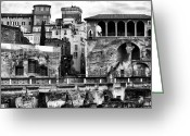 Houses Posters Greeting Cards - Among the Ruins Greeting Card by John Rizzuto