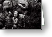 Ceramic Sculpture Greeting Cards - Amongst the Vines Greeting Card by Tim Nichols