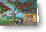 Campesino Greeting Cards - Amor de Campesino Greeting Card by Toyo Perez