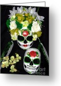 Green Day Sculpture Greeting Cards - Amor Eterno Greeting Card by Mitza Hurst