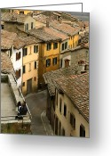 Medeival Greeting Cards - Amore in Cortona Greeting Card by Al Hurley