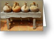 Tile Greeting Cards - Amphoras  Greeting Card by Elena Elisseeva