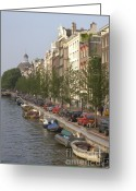 Canal Greeting Cards - Amsterdam Canal Greeting Card by Andy Smy
