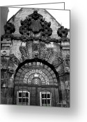 Mitic Greeting Cards - Amsterdam Gate Black and White Greeting Card by Marko Mitic