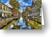 Yellow Photo Greeting Cards - Amsterdam Greeting Card by Svetlana Sewell