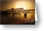 Rail Roads Greeting Cards - Amtrak California Gold USA Greeting Card by Wingsdomain Art and Photography