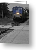 Lyle  Huisken Greeting Cards - Amtrak Greeting Card by Lyle  Huisken