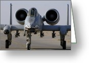 Gunship Greeting Cards - An A-10 Thunderbolt Ii Greeting Card by Stocktrek Images