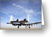 Whiteman Photo Greeting Cards - An A-10 Thunderbolt Ii Taxies Greeting Card by Stocktrek Images