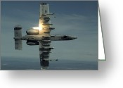 Gunship Greeting Cards - An A-10 Warthog Breaks Over The Pacific Greeting Card by Stocktrek Images