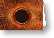 Brown Eyes Greeting Cards - An Abstract Hole Greeting Card by Sven Hagolani