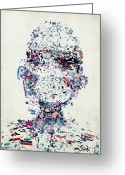 Head Piece Greeting Cards - An Abstract Illustration Of A Persons Head Made Up Of A Collection Of Colorful Fragments Greeting Card by Nikolai Larin