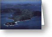 Lush Vegetation Greeting Cards - An Aerial Of Saint John Island Greeting Card by Ira Block