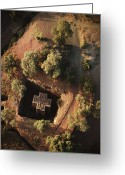 African Heritage Photo Greeting Cards - An aerial view of Beta Greeting Card by James P. Blair