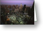 September 11 Greeting Cards - An Aerial View Of Ground Zero Greeting Card by Ira Block