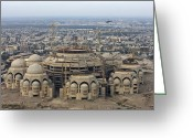 Great Mosque Greeting Cards - An Aerial View Of Saddam Hussiens Great Greeting Card by Terry Moore