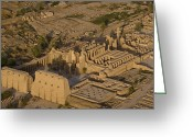 Excavation Greeting Cards - An Aerial View Of The Large Temple Greeting Card by Michael Poliza