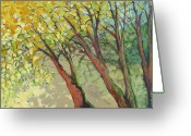 Air Painting Greeting Cards - An Afternoon at the Park Greeting Card by Jennifer Lommers